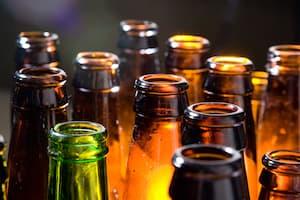 Alcohol bottles beer