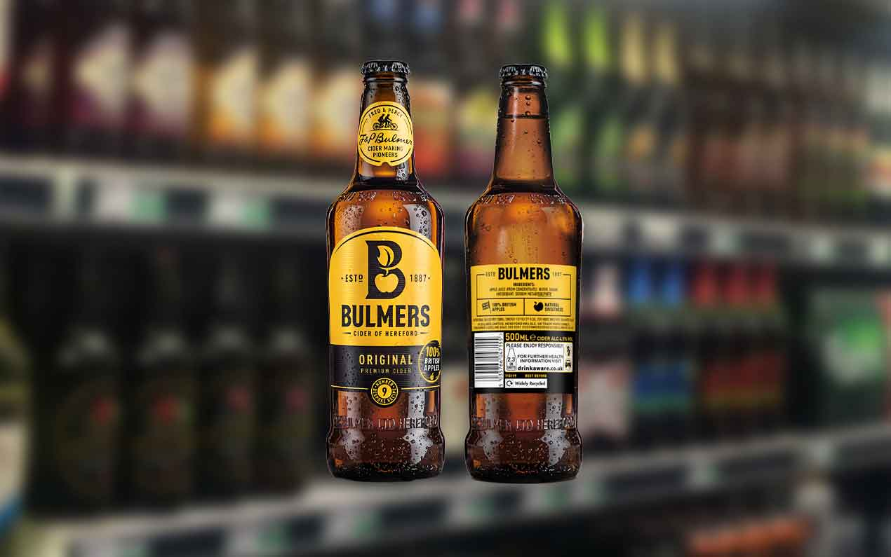 Bulmers Original cider nutritional information