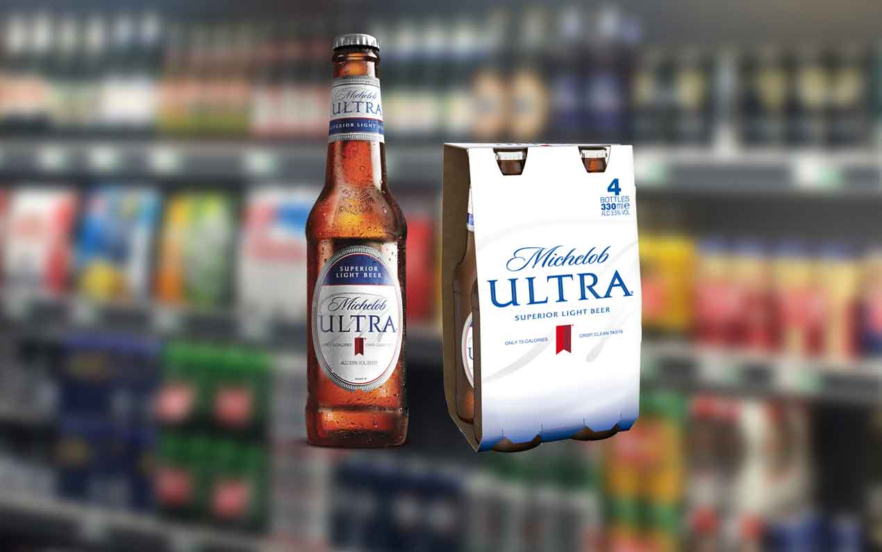 Michelob Ultra showcases new bottle format