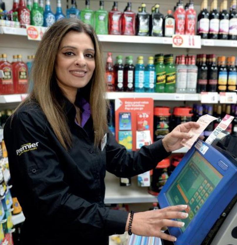 a retailer at her shop
