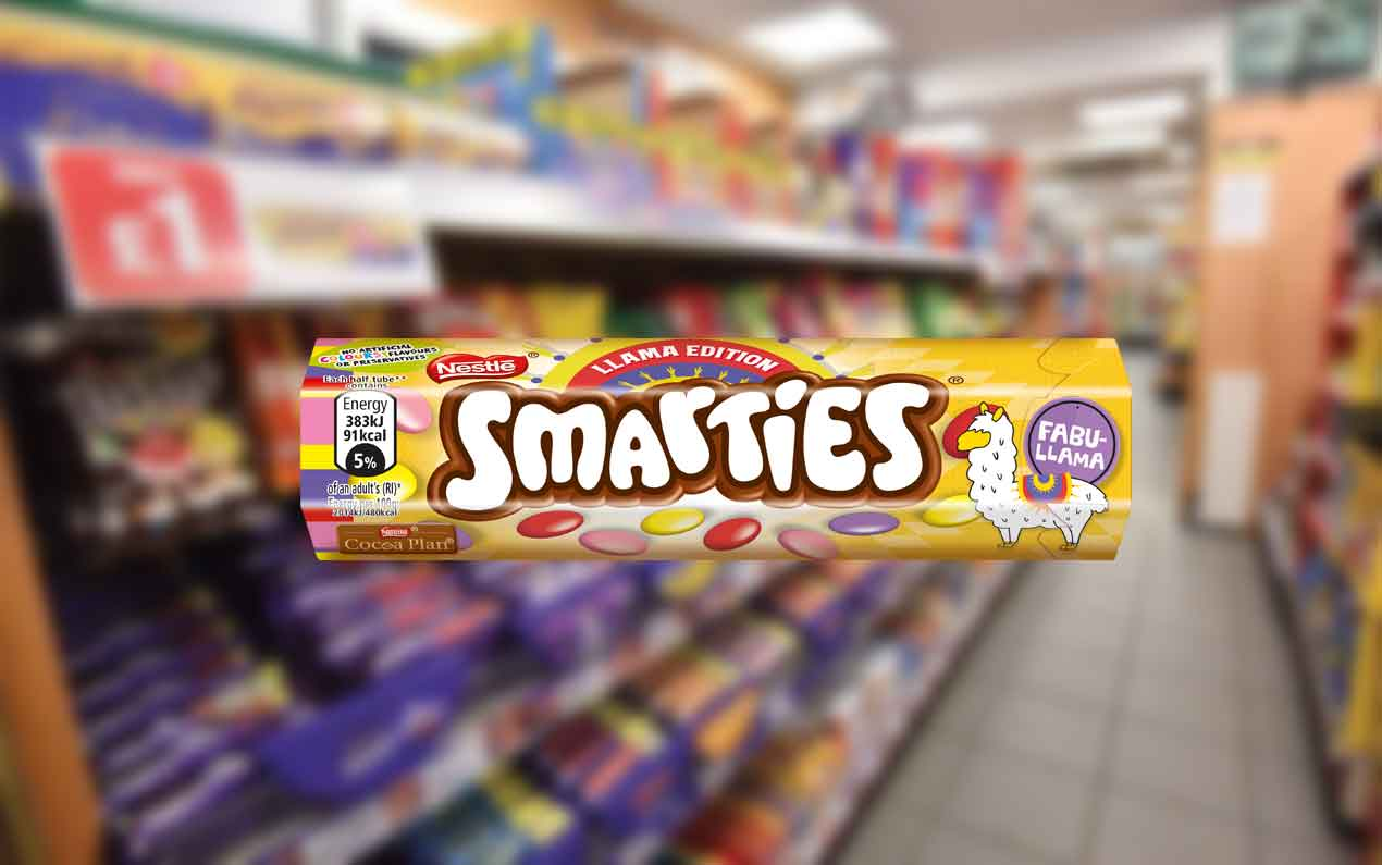 Exclusive to wholesale and the convenience channel, Nestlé Confectionery has launched Smarties Llama Edition.