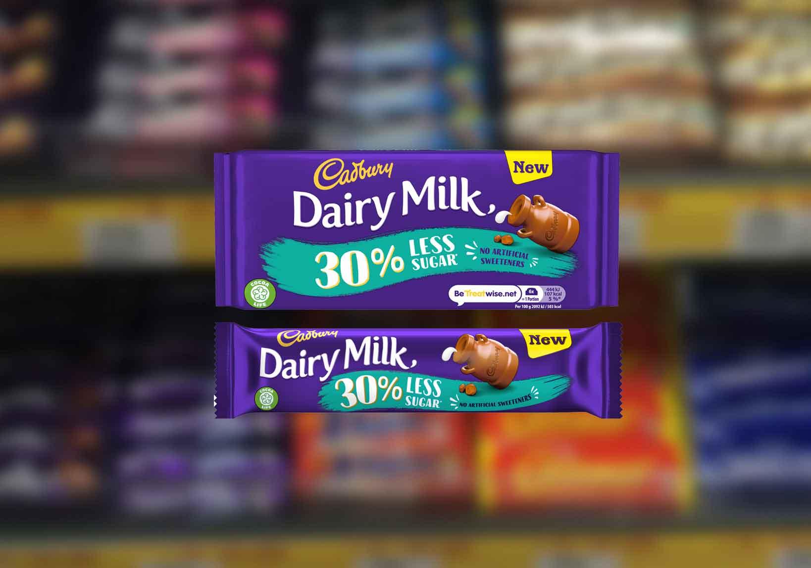 Cadbury 30% Less Sugar