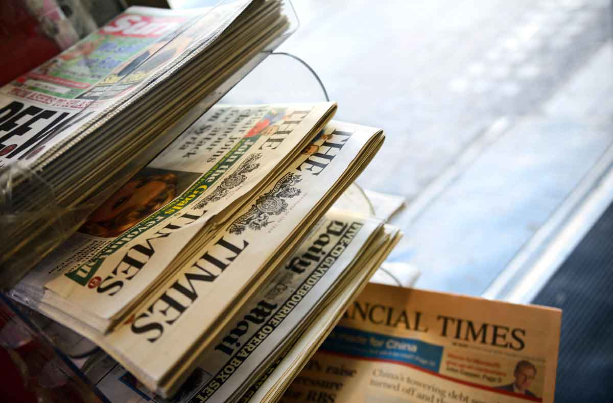 Newspaper sales for July