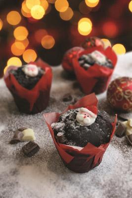 ARYZTA Santa Triple Choc Muffin