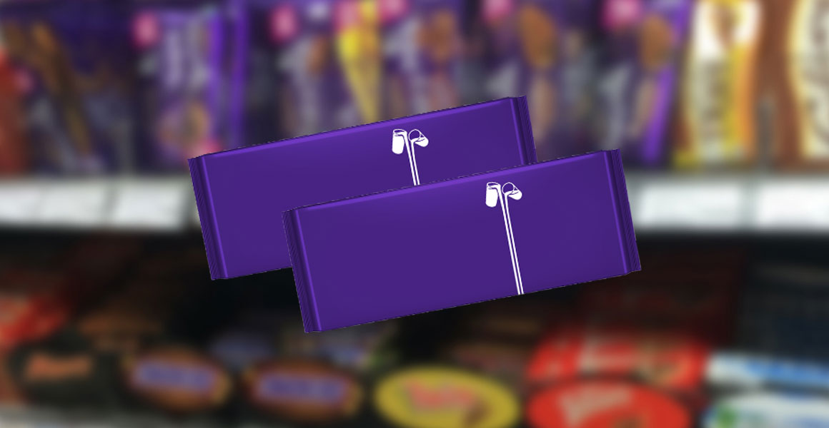 A special campaign for Age UK has removed words from Cadbury Dairy Milk packs.