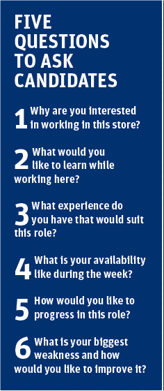 Five retail interview questions to ask candidates