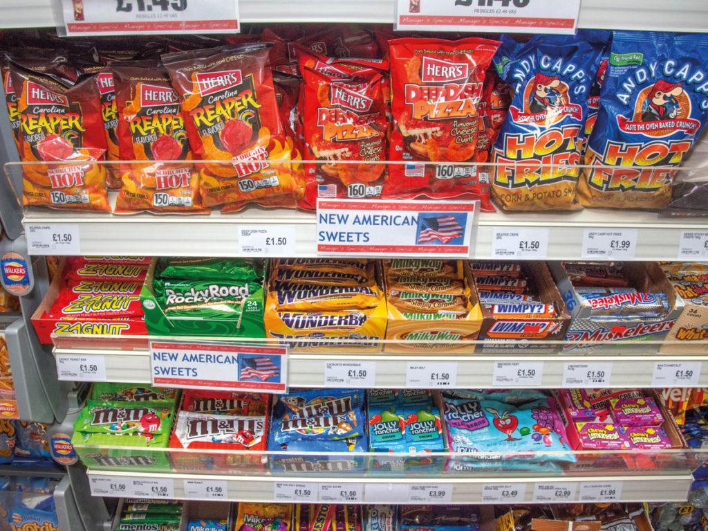 American sweets in Nisa Local High Heath