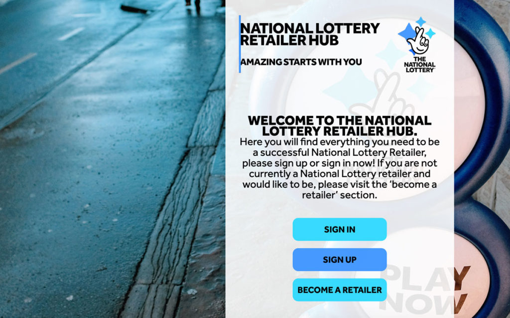 The National Lottery Retailer Hub