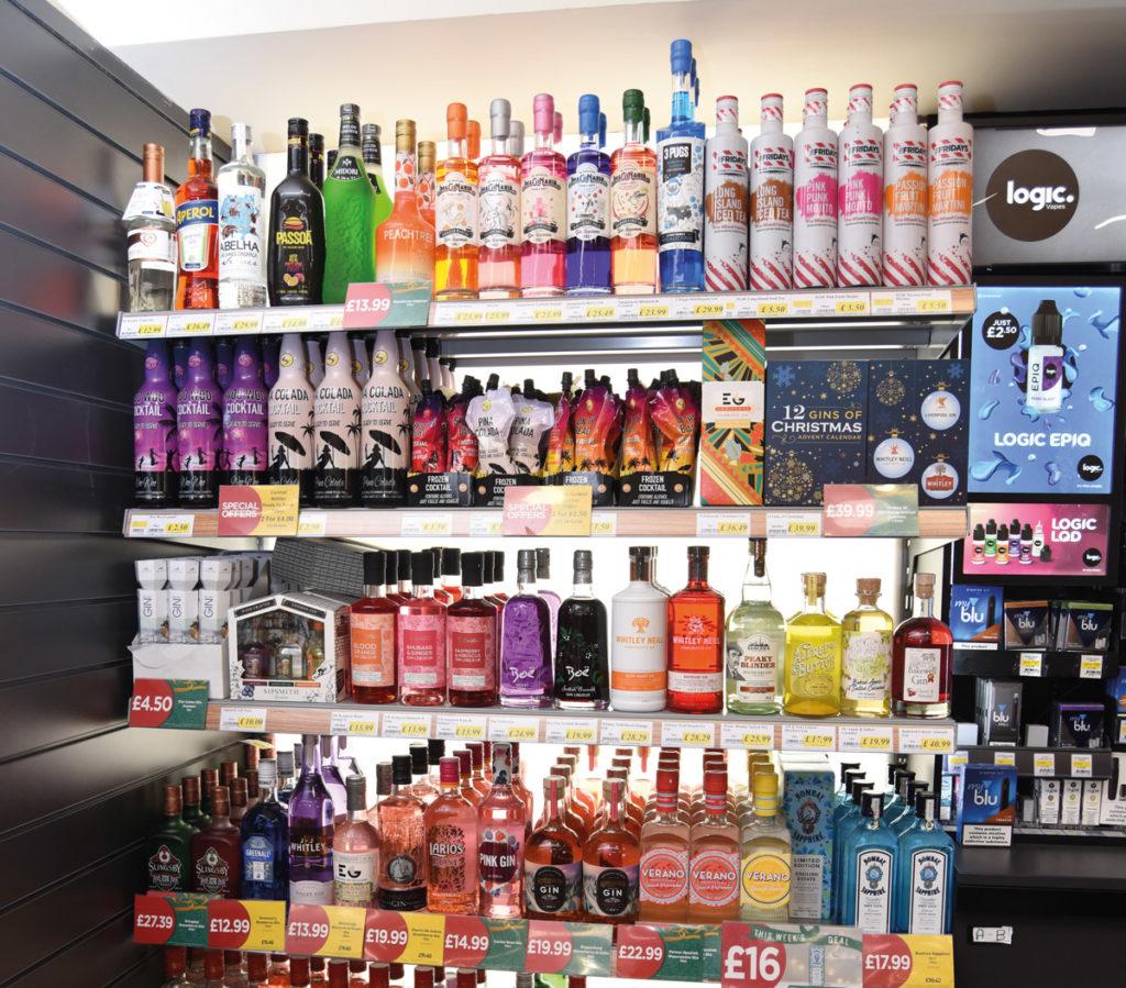 Gravelle's Budgens spirits selection