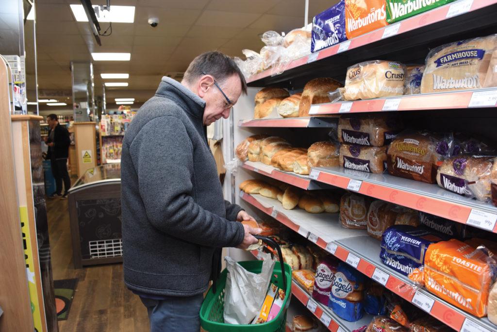 Costcutter Culverstone Green bread aisle