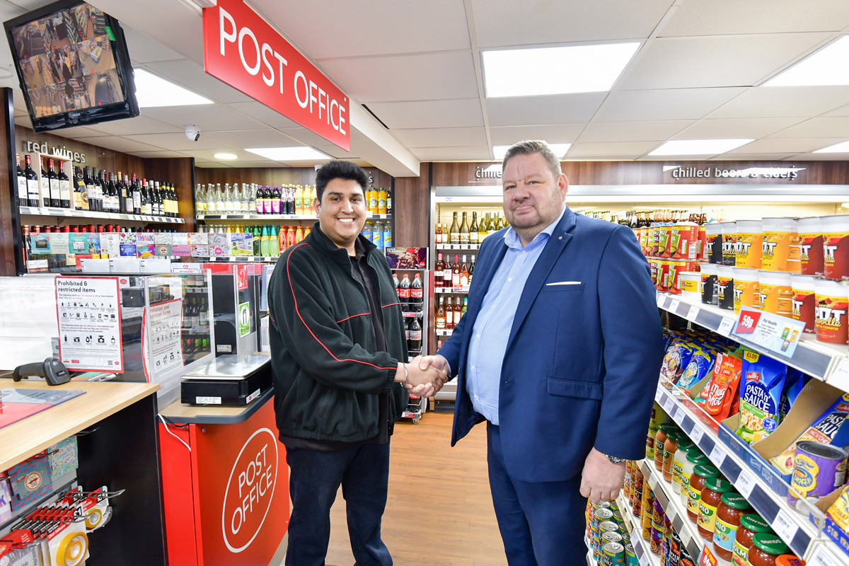 Hardeep Nahal with his Best-one business development manager Paul Woodall