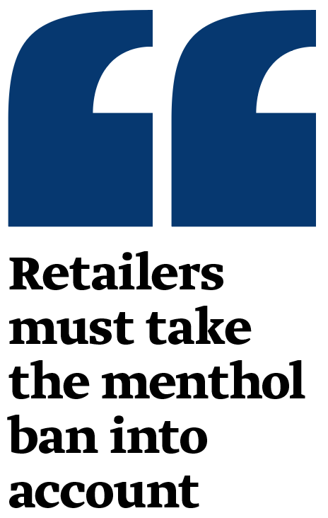 """""""Retailers must take the menthol ban into account"""""""