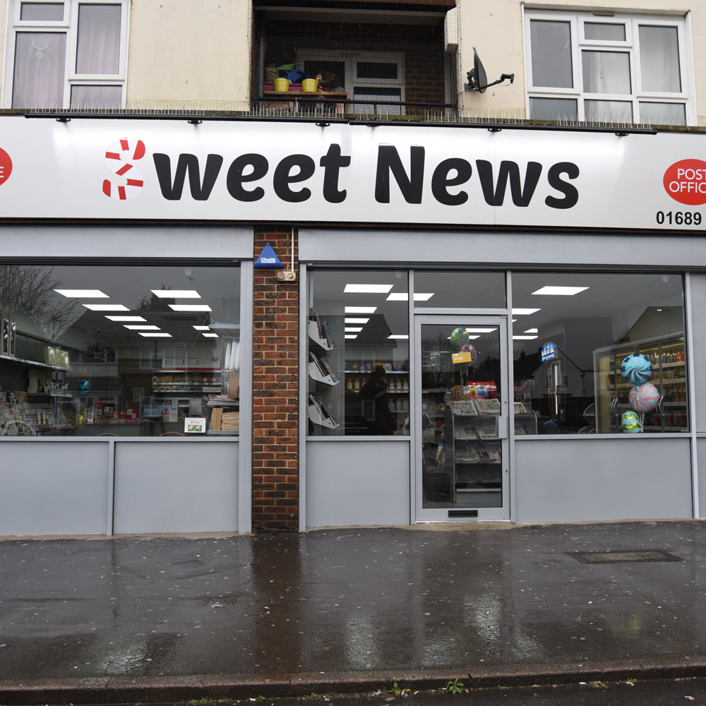 Sweet News Orpington exterior Post Office