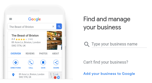 Find and manage your business on Google