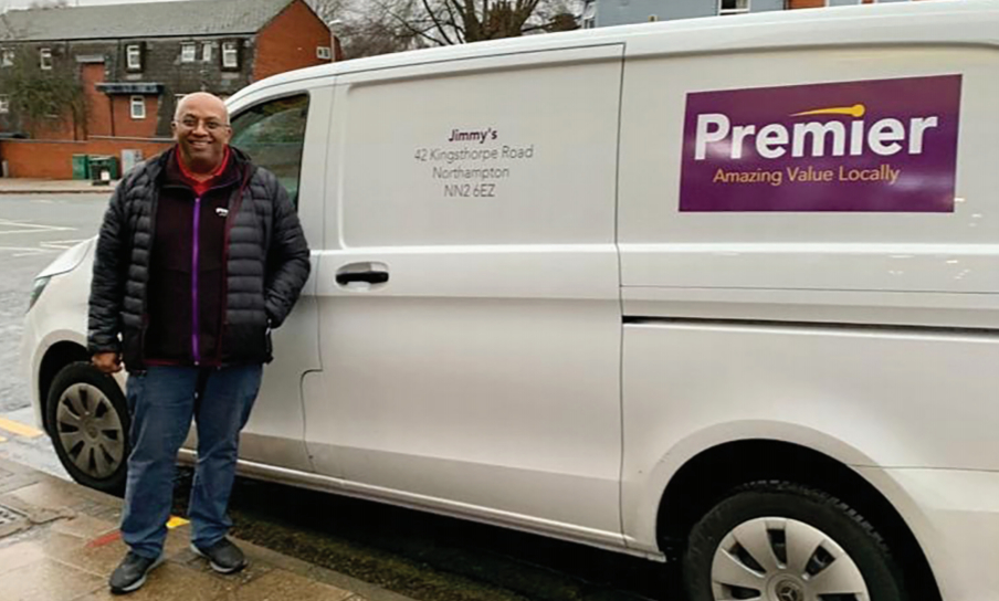 Jimmy Patel and his van