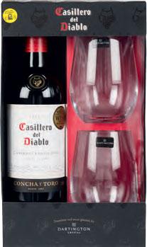 Casillero del Diablo & Glass Gift Set
