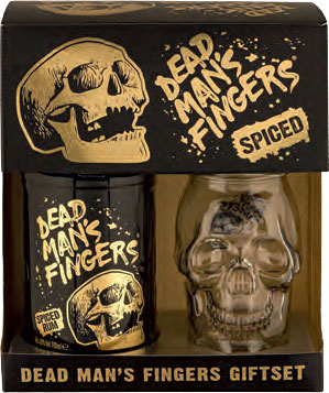 Dead Man's Fingers Spiced Rum Giftset with Skull Glass