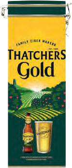 Thatchers Gold with Glass and Tin